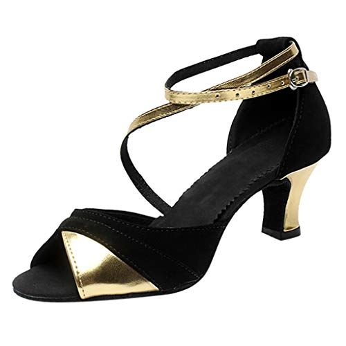 NEARTIMEWomen's Sandals-Laides Shallow Waltz Prom Ballroom Latin Dance Shoes Spike Heels Dance Shoes(3cm-5cm)