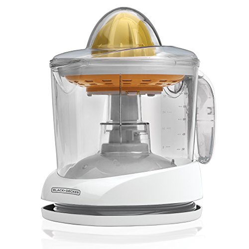 BLACK+DECKER CJ625 Citrus Juicer, 34-Ounce Capacity, White