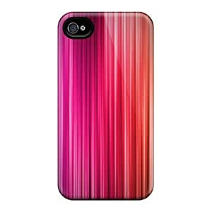 Durable Case For The Iphone 4/4s- Eco-friendly Retail Packaging(stripes Color Jpeg)