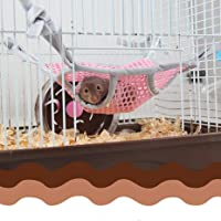 STAR-TOP Hamster Chinchilla Hammock Squirrel Rabbit Hanging Tree Beds Cage Small Animal Pet Cage Double Layer Breathable Mesh Cloth