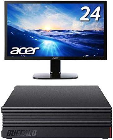 BUFFALO 外付けハードディスク 2TB テレビ録画/PC/PS4/4K対応 HD-AD2U3 + Acer モニター ディスプレイ KA240Hbmidx 24インチ HDMI端子対応 スピーカー内蔵 ブルーライト軽減