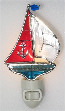 Sailboat Stained Glass ()