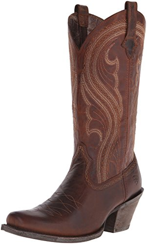 Ariat Women's Lively Western Cowboy Boot, Sassy Brown, 5.5 B US