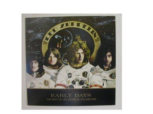 Led Zeppelin Poster Early Days Band Shot as Astronauts 2 sided Robert Plant Jimmy Page John Paul Jones John Bonham (Early Days The Best Of Led Zeppelin)