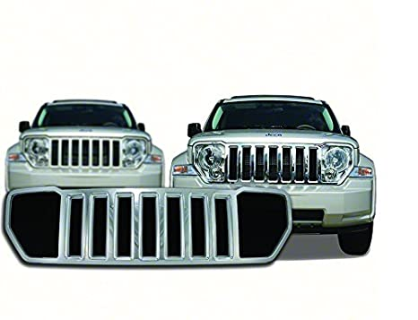 2008-2013 Jeep Liberty Chrome Grille Overlay