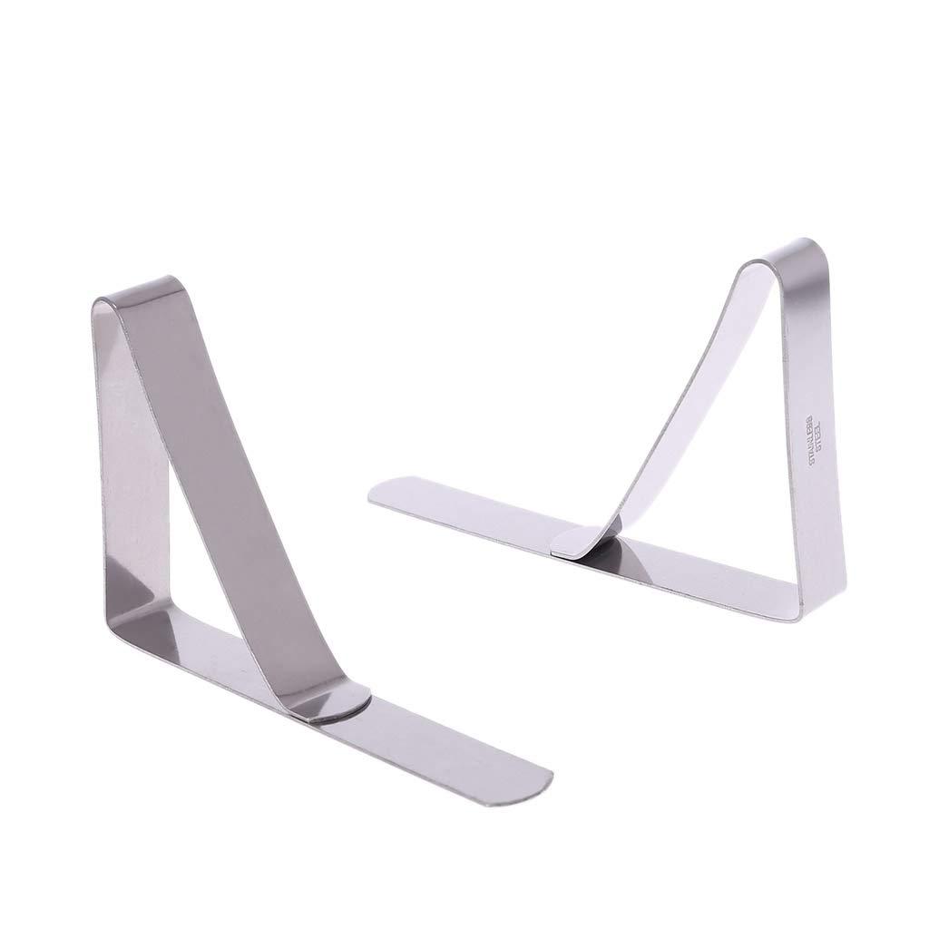 Lunji tovaglia con mollette ferma-tovaglia 4 pezzi in acciaio inox clip di fissaggio tovaglia clip per interni esterni picnic