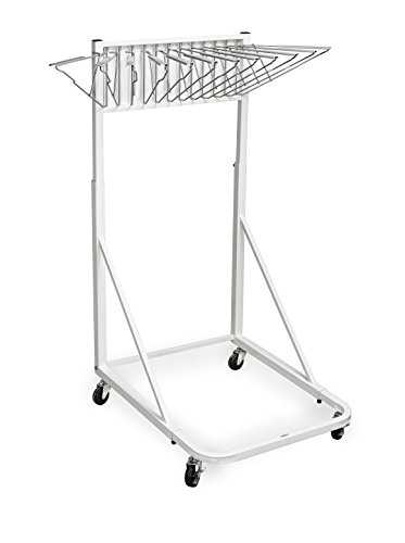 - Adir Office Vertical File Rolling Stand for Blueprints - White
