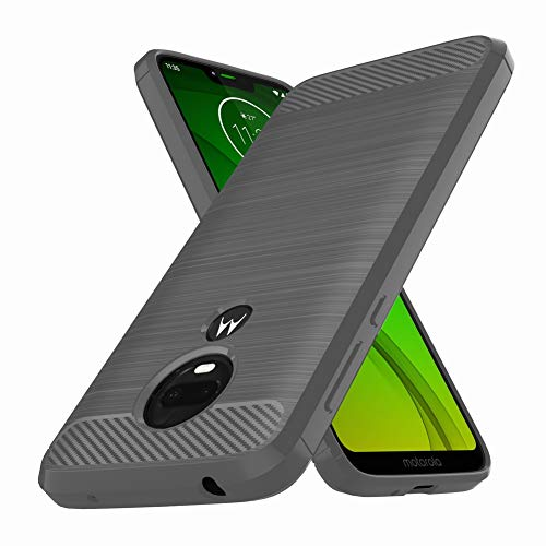 Moto G7 Power Case, Moto G7 Supra Case, E-outfit Slim Soft TPU Protective Rubber Bumper Case Cover for Motorola Moto G7 Power Phone (Gray)