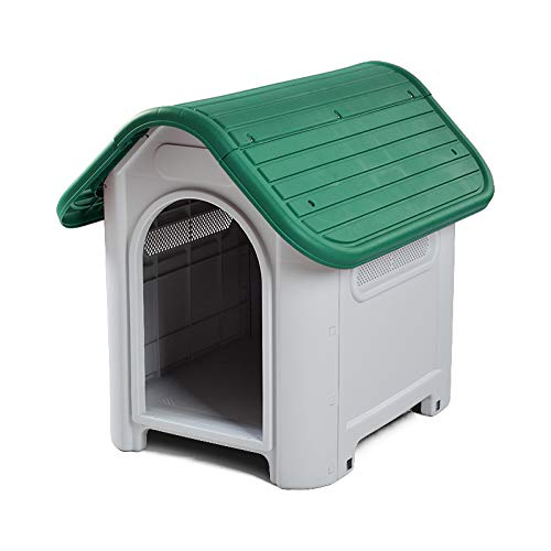 Green 75X59X66CM green 75X59X66CM YSYPET Deluxe durable Plastic Dog Cat Kennel House Weatherproof for Indoor and Outdoor Home of Animal Pet Shelter Flat Pack Easy DIY Assembly Easy to clean Suitable for small dogs such as Teddy dogs and poodles, green, 75