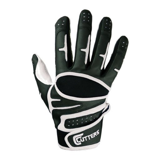 Cutters Endurance Baseball Gloves (Black, Youth Small) (Cutters Batting Glove)