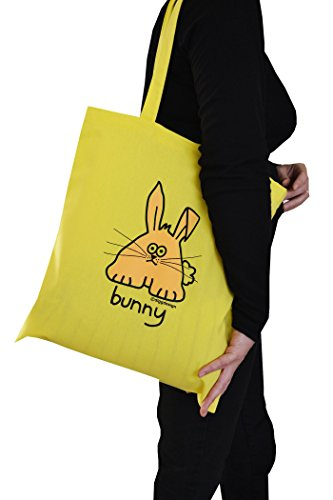 cotton yellow tote 'Bunny' bag yellow 'Bunny' q1HEx8t