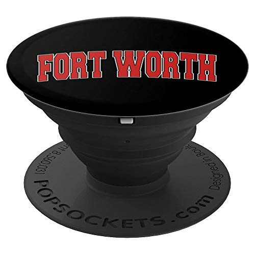 FORT WORTH TX TEXAS Varsity Style USA Vintage Sports PopSockets Grip and Stand for Phones and Tablets (Worth Tx In Universities Fort)