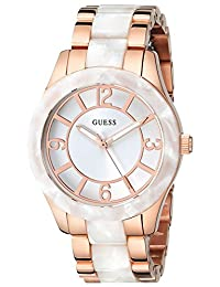 Guess Women's U0074L2 White Stainless-Steel Quartz Watch