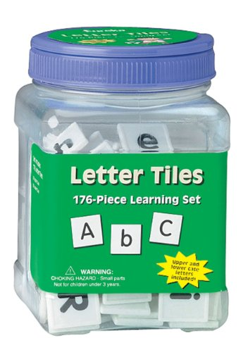 Eureka Tub Of Letter Tiles, 176 Tiles in 3 3/4