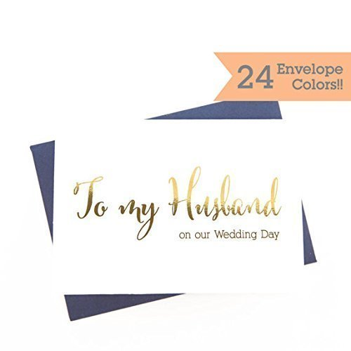 amazon com to my husband on our wedding day card wc004 cn f handmade