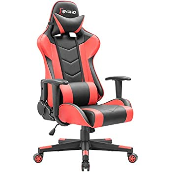 Surprising Devoko Ergonomic Gaming Chair Racing Style Adjustable Height High Back Pc Computer Chair With Headrest And Lumbar Support Executive Office Chair Red Machost Co Dining Chair Design Ideas Machostcouk