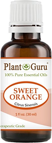 Sweet Orange Essential Oil 1 oz / 30 ml 100% Pure Undiluted Therapeutic Grade Citrus Sinensis, Cold Pressed From Fresh Orange Peel, Aromatherapy Diffuser, Relaxation, Calming, Natural Cleaner