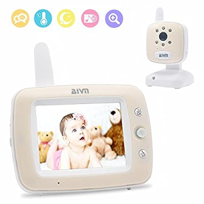 AIVN Video Baby Monitor with 3.5'' LCD Display Digital Camera, Infrared Night Vision, Two Way Talk, Temperature Sensor for Baby Safety from AIVN