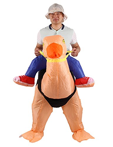 [Gameyly Inflatable Adult Animal Rider Halloween Costumes Fancy Dress Party Outfit Turkey] (Halloween Ostrich Rider Costume)