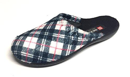 Gezer Women's Slippers 6.5 Blue-white