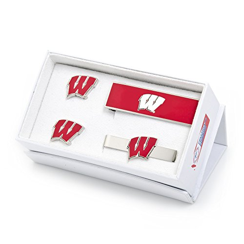 NCAA Mens University Of Wisconsin Badgers 3-Piece Gift Set by Cufflinks