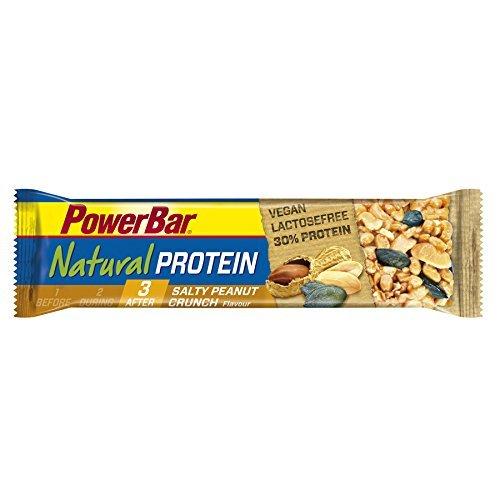 PowerBar 40 g Salty Peanut Crunch Natural Protein Bar - Pack of 24 by Power Bar