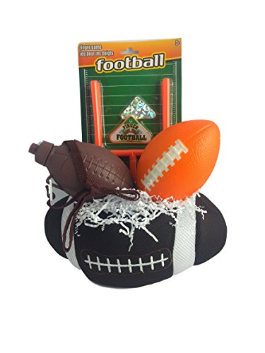 Football Gift Basket Box for Kids Boy or Girl Premade Prefilled for Sports Birthday, Get Well, Prizes
