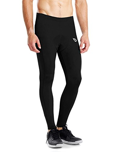 Baleaf Men's 3D Padded Ankle Length Cycling Compression Tights Black Size XXL