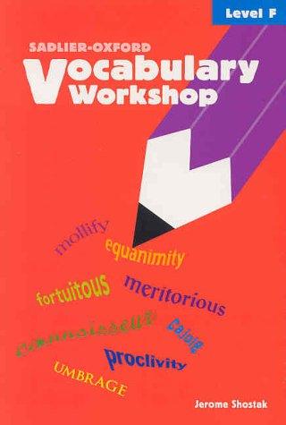vocabulary workshop book level f