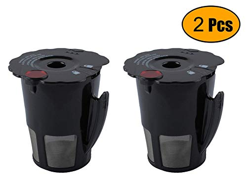 Podoy Reusable Coffee Filter for Compatible with Keurig K-Cup My 119367 2.0 Updated Model Black Small Coffee Filter K200 K250 K300 K350 K400 K450 K460 K475 K460 K500 K550 K560 K575(Pack of 2) (Infrared Dishwasher)