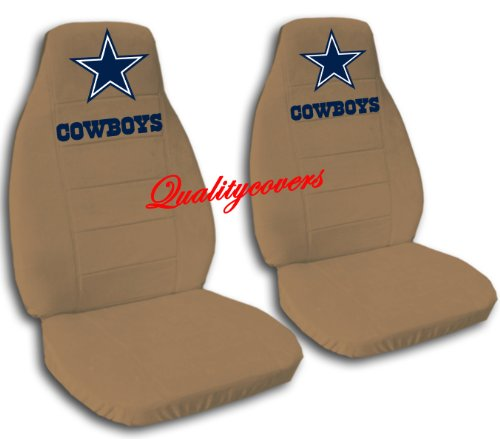 2 Brown Dallas seat covers for a 2007 to 2012 Chevrolet Silverado. Side airbag friendly. by Designcovers