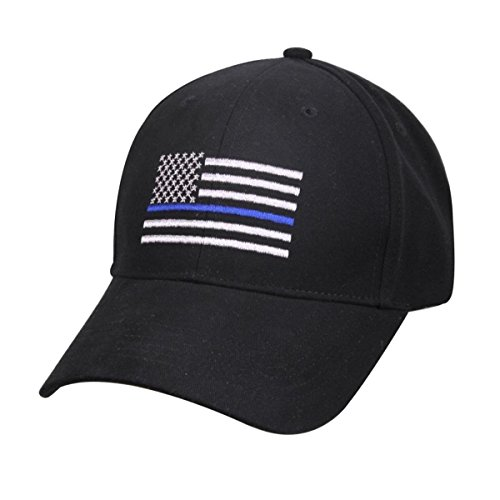 (Thin Blue Line Patch USA Police Memorial Blue Lives Matter American Black Embroidered Cap Hat Premium Quality Cotton Poly Twill One Size Fits Most)