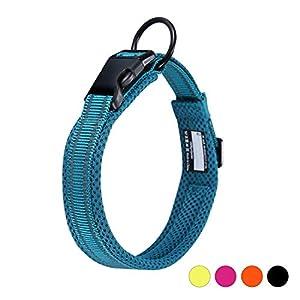 Collar para Perros Pequeños Grandes Medianos Reflectante Suave Acolchado Impermeable Ajustable Transpirable con Etiqueta…