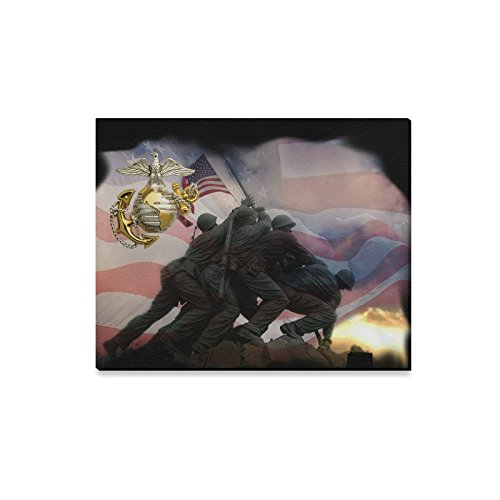Thanksgiving Decor USMC United States Marine Corps Semper Fi Oil Painting Canvas Print Wall Art for Home Decoration(20x16inch)