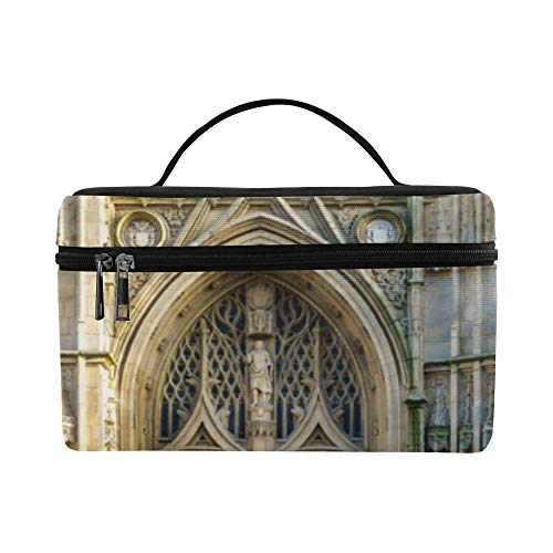 (Bento Lunch Sturdy Cosmetic Bags Romance Gothic Architecture Church Big Make Up Bag Picnic Toiletry Storage Bag Work For Adult Case )