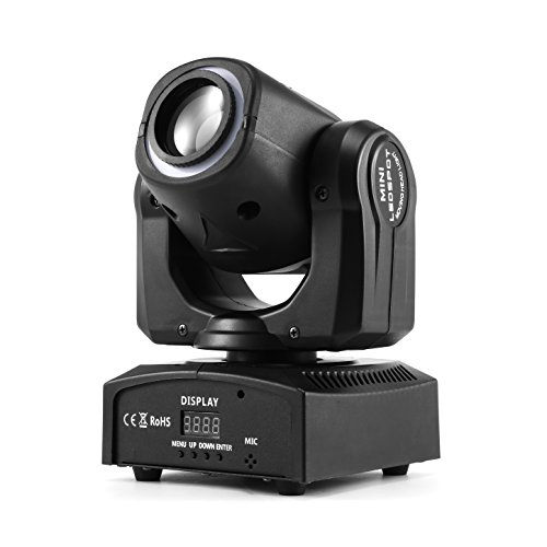 - MFL. 50W Moving Head Light, DMX 512 Sound Activated 4 Modes Stage Lighting for DJ Disco Show Bar Nightclub Party