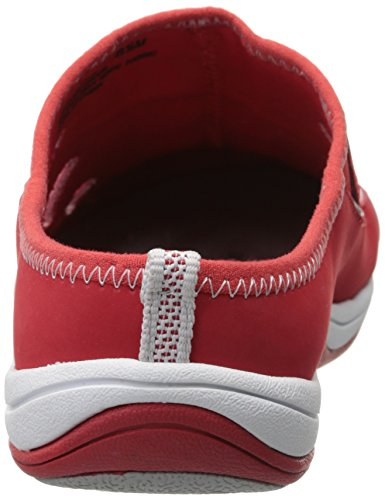 Street Fashion Women's Sneaker Red Barbara Easy Fabric Leather 6qfwpdfOc