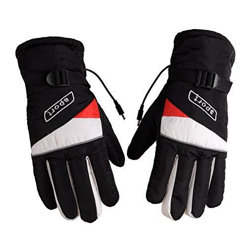 Samber Winter Heated Gloves Motorcycle Heating Gloves Charging Gloves Motorcycle 12v Electric Gloves Thickening Finger Gloves Men ()