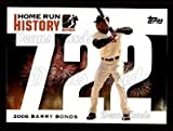 2005 Topps Barry Bonds HR History # 722 Home Run 722 Barry Bonds San Francisco Giants (Baseball Card) Dean's Cards 8 - NM/MT Giants