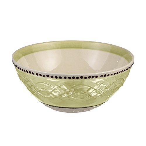 """Grasslands Road 473068 Celtic Ceramic Gift Boxed Blessings Bowl, 7""""/Medium, Green/Cream/White/Lime"""