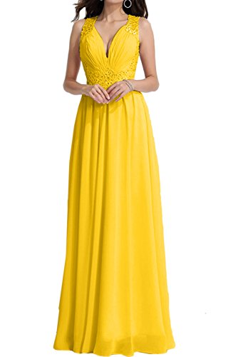 Abendkleider A Linie Damen Rueckenfrei Ivydressing V Ausschnitt Golden Ballkleider Promkleider SxwYTYOqt
