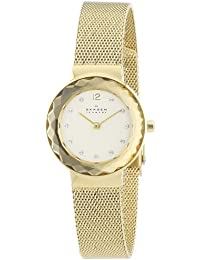 Womens 456SGSG Leonora Gold Mesh Watch