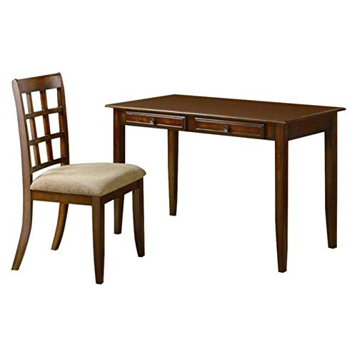 Coaster Casual Chestnut Wood Table Writing Desk with Two Drawers and Desk ()