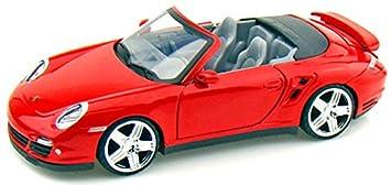 Motormax GOTZMM73348RD Porsche 911 Turbo Cabriolet - Maqueta de coche (escala 1:24)