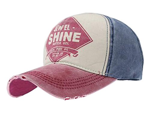 Youth Baseball Cap Casual Hat Travel Caps for Ladies, Wine Color by Black Temptation