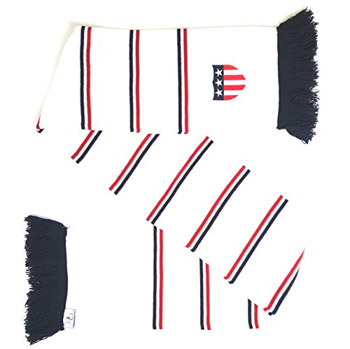 USA Embroidered Soccer Knit Scarf - Matches Current Jersey Colors! by Euroscarves