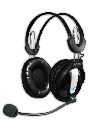 Andrea Headphones (Andrea Communications NC-250 Circumaural Stereo PC Headset with Noise Canceling Microphone, Volume Control, dual 3.5mm plugs, in Retail Packaging.)
