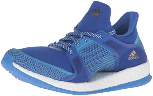 Adidas Performance Women's Pure Boost X TR Cross-Trainer Shoe, Bold Blue/Ray Blue/Vapor Green Fabric, 8.5 M US