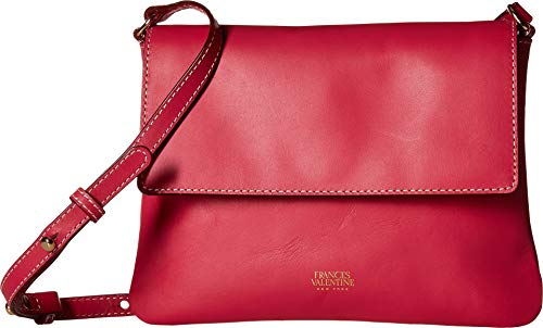 Frances Valentine Women's Maggie Flap Crossbody Bag, Bright Pink, One Size