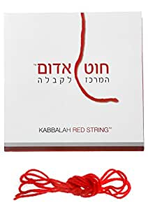 Kabbalah Authentic Wool Red String Pack Blessed Rachel Tomb + Silver Hamsa Against Evil Eye